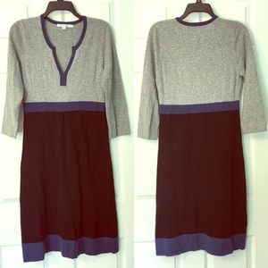 Boden Sweater Color block Dress Cashmere Blend 8